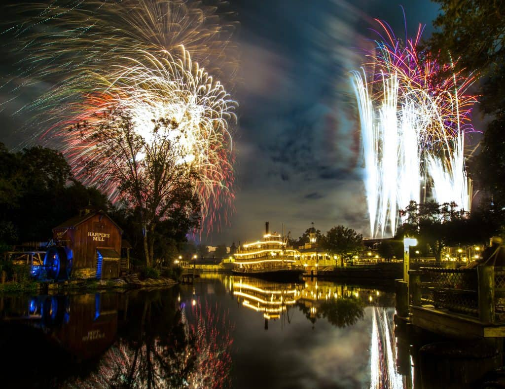 Magic Kingdom fireworks spots from Frontierland.