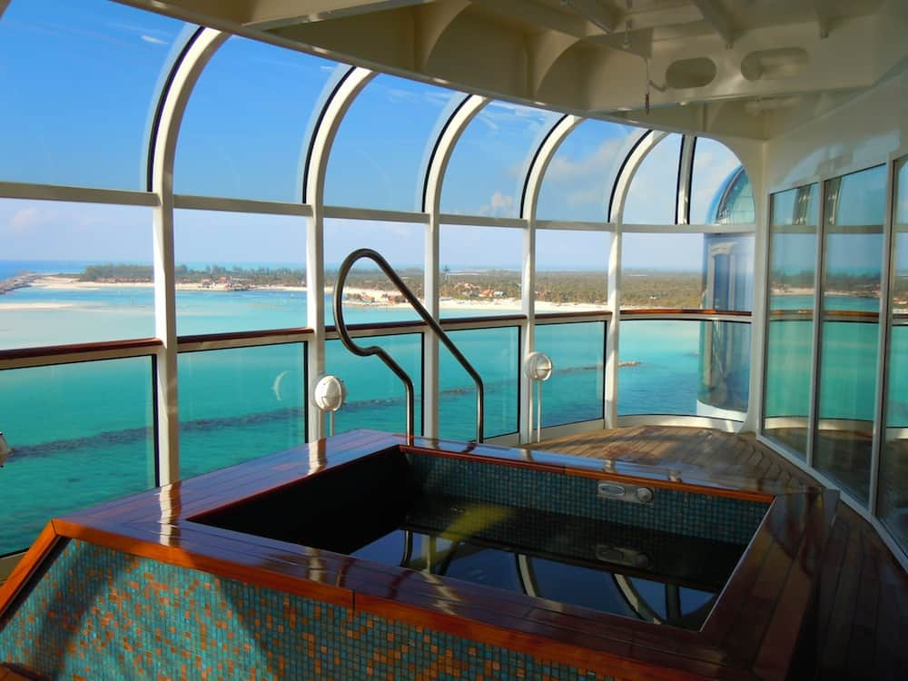 Private hot tub at Senses Spa is available for an extra charge on any Disney cruise.