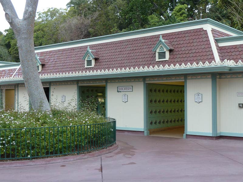 Disneyland locker rentals if you don't want to take your bags on rides at Disney parks.